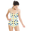 Simple Painterly Pattern in Yellow and Blue (Swimsuit)