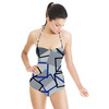 Geometric, Cuadros, Triangulos, Vigore (Swimsuit)
