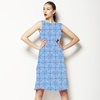 Aqua Blurred Geometrics (Dress)