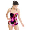 Abstract Floral Pattern in Repeat (Swimsuit)