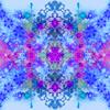 Psychedelic Aqua Print (Original)