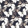 Seamless Vintage Sepia Black White Butterflies Textile (Original)