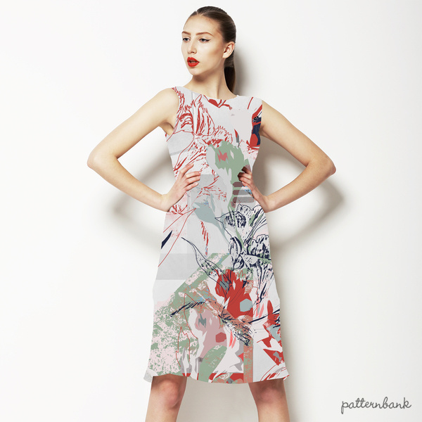 616 Deconstructed Floral Print