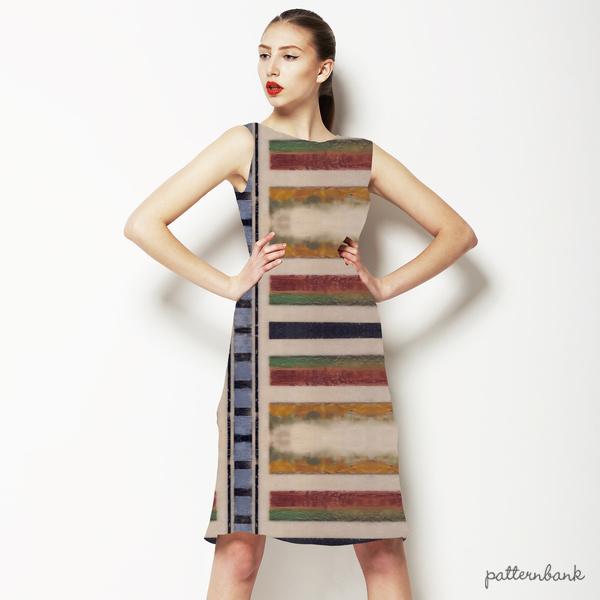 Unique Encaustic Mirrored Stripes and Checks
