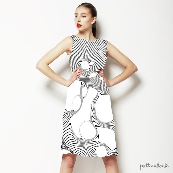 Abstract Line Print
