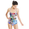 Daisy Colorful Flowers in Multicolor. (Swimsuit)