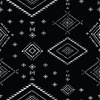 Ethnic Pattern on Black Background. (Original)