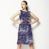 Handpainted Indigo Tile (Dress)
