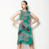 Bold Tropical Line Floral (Dress)
