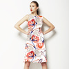 Graphic Red Climbing Floral (Dress)