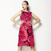 Floral Linear Daisies Magenta (Dress)