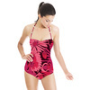 Floral Linear Daisies Magenta (Swimsuit)