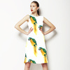 Hand Painted Watercolour Parrott Print (Dress)