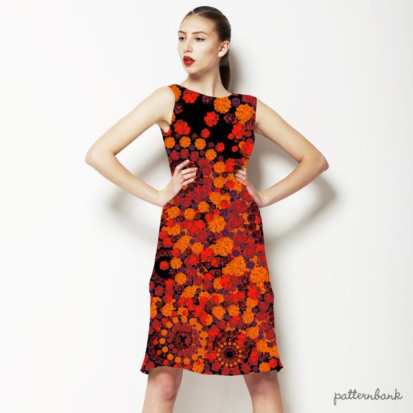 Orange Floral Mix