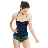 Blue Abstract Texture (Swimsuit)