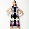 Pixellation Carousel Tendons Catch Stained Glass Light (Dress)