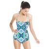 Ikat Lime Blue Hues (Swimsuit)