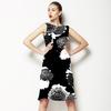 Monochrome Graphic Floral (Dress)