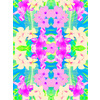 Faded Neons Tropical Print (Original)