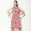 Geometric Print in an Ethnic Style (Dress)