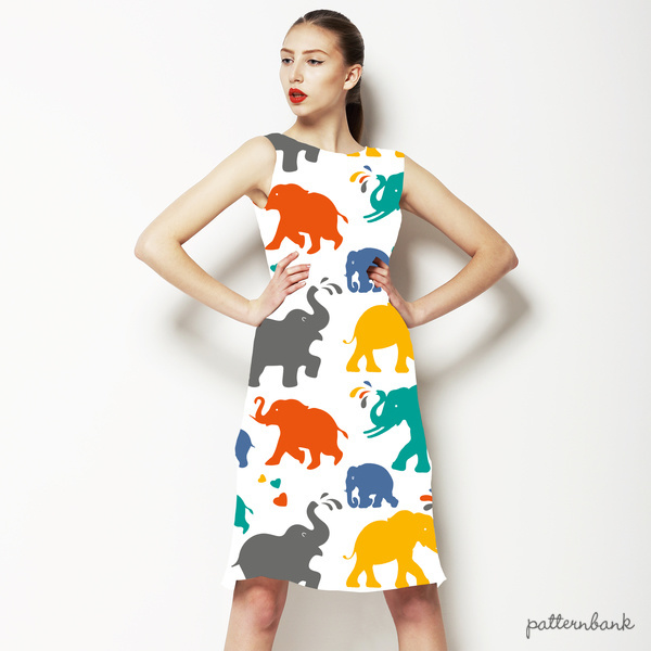 Colorful & Cheerful Elephant Pattern