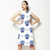 Hand Drawn Indigo Baroque Pattern in Repeat Pattern (Dress)
