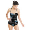 Painterly Abstract Dark Floral (Swimsuit)
