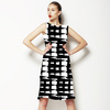 Black & White Abstract (Dress)