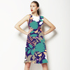 Retro Floral Scatter Green (Dress)