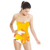 Abstract Yellow Shapes Pattern (Swimsuit)