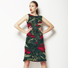 Rose Bulp and Leaf Green (Dress)