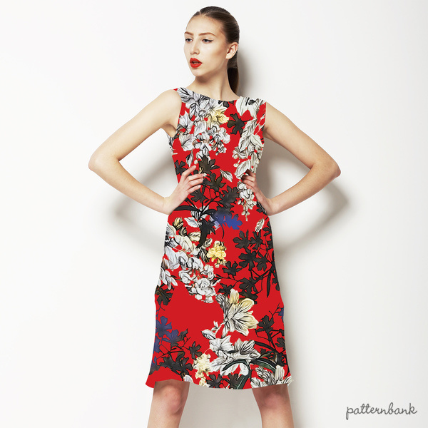 Floral and Flower Red