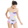 Multicolor Pattern With Dinosaurs and Mammoth (Swimsuit)