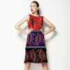 Paisley Pop Stripe (Dress)