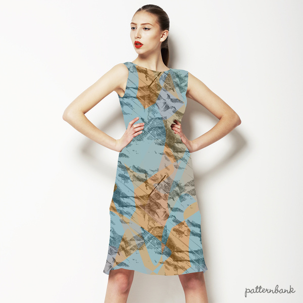Seamless Geometric Camouflage Abstrac Textile