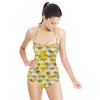 Seamless Texture 3d Camouflage Abstrac Textile (Swimsuit)