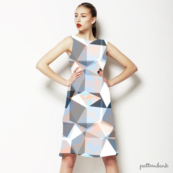 Seamless Irregular Geometric Abstrac Floral Textile