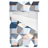 Seamless Irregular Geometric Abstrac Floral Textile (Bed)