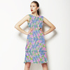 Seamless Colorful Irregular Geometric Abstract Textile (Dress)