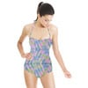 Seamless Colorful Irregular Geometric Abstract Textile (Swimsuit)