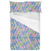 Seamless Colorful Irregular Geometric Abstract Textile (Bed)