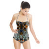 Tropical Embroidered Floral (Swimsuit)
