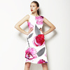 Hand Painted Watercolor Roses (Dress)