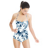 Abstract Indigo Floral (Swimsuit)