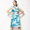 Marbling Paper Pattern Green & Blue Detail (Dress)