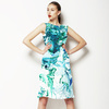 Marbling Paper Pattern Green & Blue (Dress)
