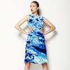 Marbling Paper Pattern Navy (Dress)