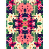 Tropical Leaves and Floral Repeat Print (Original)
