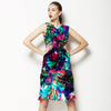 Hand Painted Vibrant Floral (Dress)