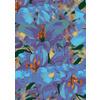 Floral Flower Collage Blue Purple (Original)
